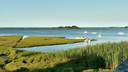 Edgartown, Sengekontacket Pond Waterfront Martha's Vineyard vacation rental - View from Upper Deck
