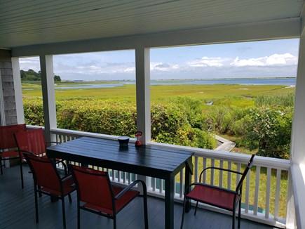 Edgartown, Sengekontacket Pond Waterfront Martha's Vineyard vacation rental - Enjoy coffee, drinks or dinner with view of salt marsh & pond