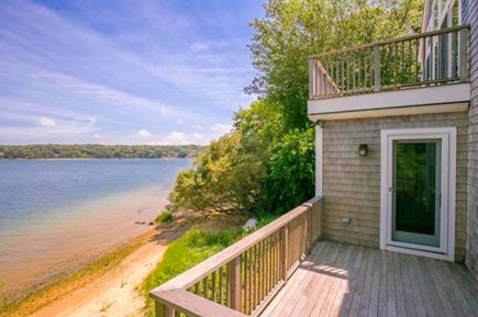 Vineyard Haven Martha's Vineyard vacation rental - Lower Level Deck Overlooking Lagoon