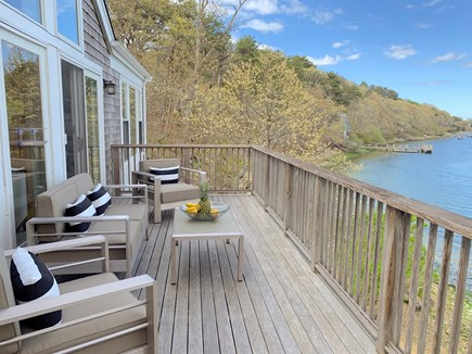 Vineyard Haven Martha's Vineyard vacation rental - All new deck furnishings - enjoy the view!