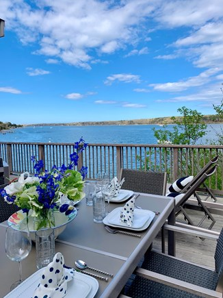 Vineyard Haven Martha's Vineyard vacation rental - Outdoor Dining All new deck furnishings.