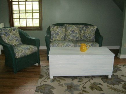 Oak Bluffs Martha's Vineyard vacation rental - Garden green seating area in the large queen bedded room