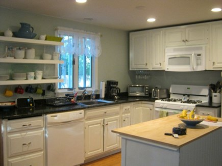 Oak Bluffs Martha's Vineyard vacation rental - Kitchen and movable antique island