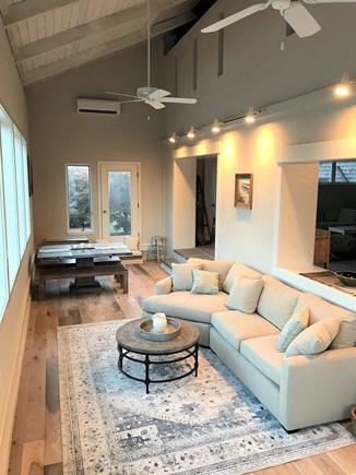 Edgartown Martha's Vineyard vacation rental - South Facing Sunroom Living and Dining areas