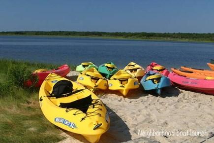 Edgartown, Ocean Heights Martha's Vineyard vacation rental - Enjoy kayaks & stand up paddle boards @ neighborhood boat launch
