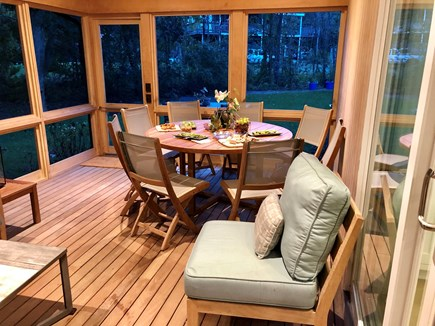 Edgartown, Ocean Heights Martha's Vineyard vacation rental - Screened porch