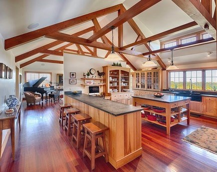 Chilmark Martha's Vineyard vacation rental - Gourmet kitchen with ocean views right off the living room