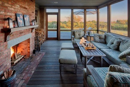 Chilmark Martha's Vineyard vacation rental - Enjoy the outdoors on this large screened in porch and deck.