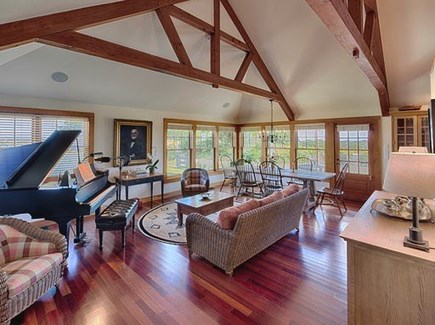 Chilmark Martha's Vineyard vacation rental - Abundance of natural light in the living and dining area