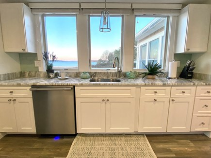 Oak Bluffs Martha's Vineyard vacation rental - Well-equipped kitchen with a water view