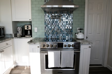 Oak Bluffs Martha's Vineyard vacation rental - Kitchen with a stand alone stove and a pot filler