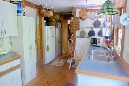 Oak Bluffs Martha's Vineyard vacation rental - Kitchen at the back of the house with views of the back yard