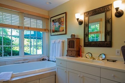 West Tisbury Martha's Vineyard vacation rental - Large soaking tub and privacy for your relaxation.