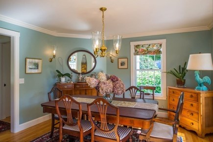West Tisbury Martha's Vineyard vacation rental - Formal dining area with mood lighting set apart from it all.