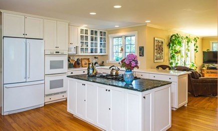 West Tisbury Martha's Vineyard vacation rental - Fully equipped kitchen open to the family room.