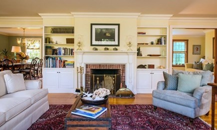 West Tisbury Martha's Vineyard vacation rental - Large living area with sliding doors out to the deck.