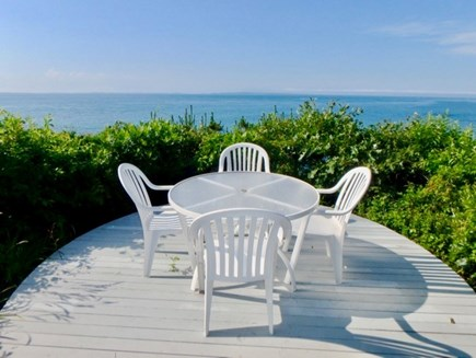 West Tisbury Martha's Vineyard vacation rental - Dining area with panoramic views away from the rest.