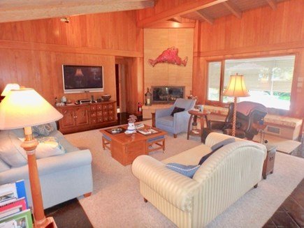 West Tisbury Martha's Vineyard vacation rental - Dining area open to the living area both with water views.