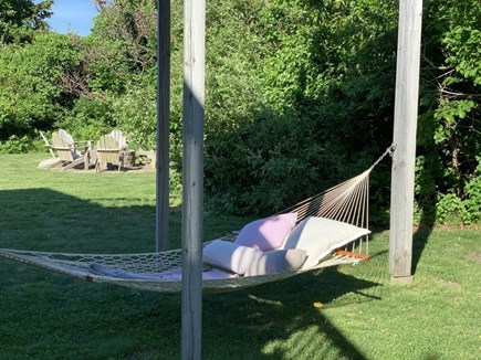 Katama - Edgartown, Katama  Martha's Vineyard vacation rental - Hammock and fire pit