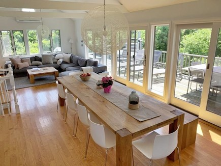 Katama - Edgartown, Katama  Martha's Vineyard vacation rental - Dining & living area