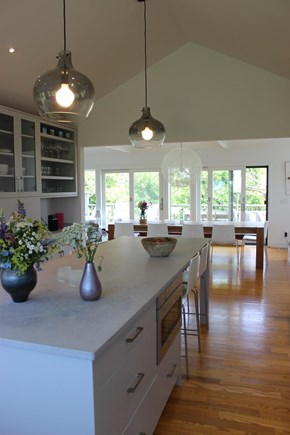 Katama - Edgartown, Katama  Martha's Vineyard vacation rental - View from kitchen to dining area