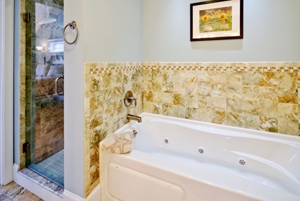 Vineyard Haven Martha's Vineyard vacation rental - Master bath with Shower and jacuzzi style bath