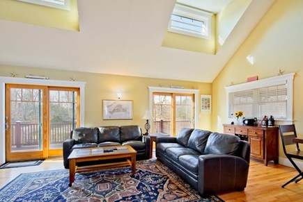Vineyard Haven Martha's Vineyard vacation rental - Open living room with smart TV and dry bar