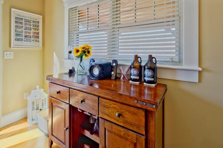 Vineyard Haven Martha's Vineyard vacation rental - Dry bar and wine rack