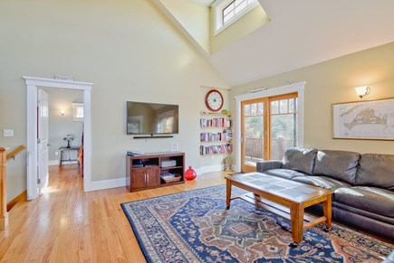 Vineyard Haven Martha's Vineyard vacation rental - Living room with vaulted ceilings and fans in every room
