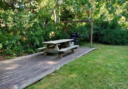 Oak Bluffs, Near MV Hospital Martha's Vineyard vacation rental - Picnic table in back yard