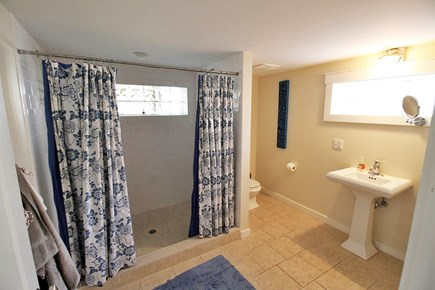 Vineyard Haven, Off Main Street Martha's Vineyard vacation rental - Downstairs Bathroom with Dual Shower.