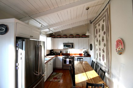Vineyard Haven, Off Main Street Martha's Vineyard vacation rental - Wide open kitchen with High Ceilings