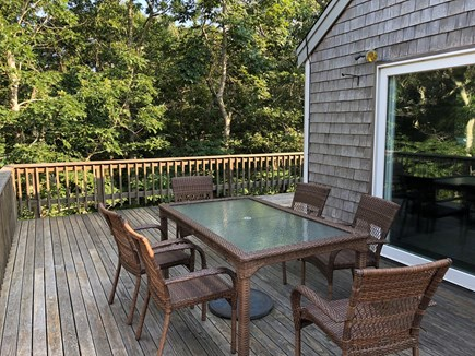 Chappaquiddick Martha's Vineyard vacation rental - Large wrap around deck with two seating areas and a grill