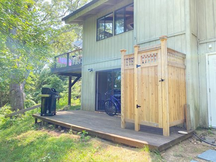 West Tisbury Martha's Vineyard vacation rental - Walkout to small deck, grill, shower, private wooded area.