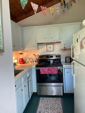 West Tisbury Martha's Vineyard vacation rental - Compact kitchen fully outfitted ; electric stove/Bosch dishwasher