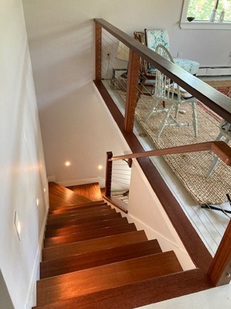 West Tisbury Martha's Vineyard vacation rental - Staircase built in 2020 to downstairs