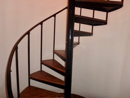 West Tisbury Martha's Vineyard vacation rental - Spiral staircase to second floor of main house.