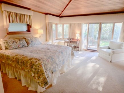 West Tisbury Martha's Vineyard vacation rental - Master Bedroom with reading nook, walk in closet, and office