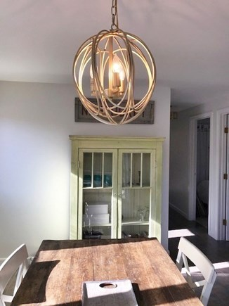 West Tisbury Martha's Vineyard vacation rental - Pendant lighting in dining area.