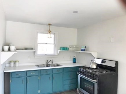 West Tisbury Martha's Vineyard vacation rental - Great kitchen with open shelving.