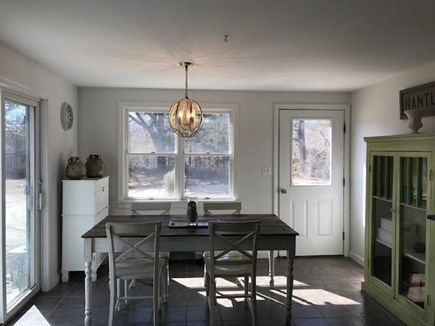 West Tisbury Martha's Vineyard vacation rental - Open kitchen and dining with sliders to the deck.
