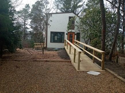Katama - Edgartown, Edgartown Estates Martha's Vineyard vacation rental - Handicap accessible ramp leads to pumpkin pie painted front door