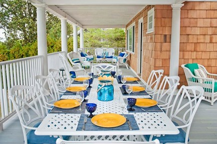 Oak Bluffs, East Chop Martha's Vineyard vacation rental - Wrap around covered porch for dining