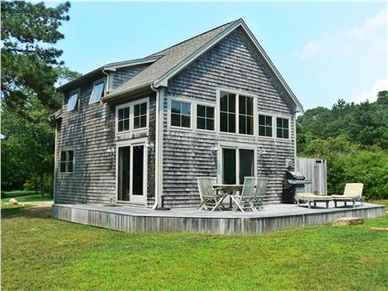 Chilmark Martha's Vineyard vacation rental - Rear w/deck and outdoor shower