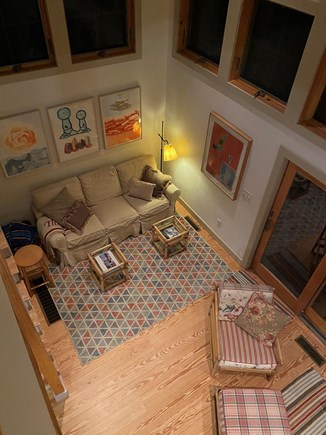 Chilmark Martha's Vineyard vacation rental - View of great room from loft