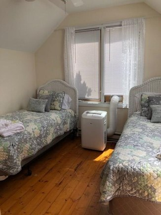 Oak Bluffs, Walk to town- quiet location Martha's Vineyard vacation rental - Another view twin bedroom , wd floors, cathedrals, skylight & AC