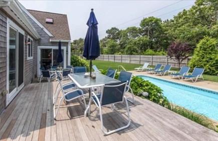 Katama - Edgartown, Katama Martha's Vineyard vacation rental - Two decks with two tables to enjoy outdoor living.