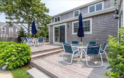 Edgartown, Katama Martha's Vineyard vacation rental - Two decks with two tables to enjoy outdoor living.