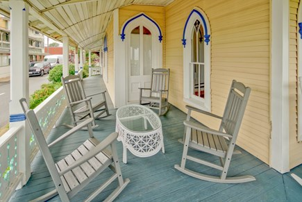 Oak Bluffs Martha's Vineyard vacation rental - Enjoy view of the park and ocean while chatting with passersby