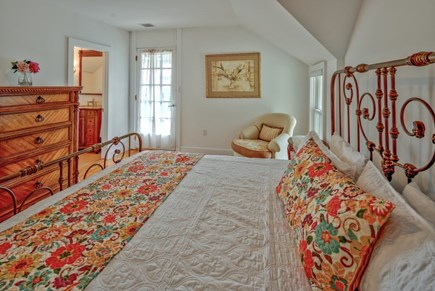 Oak Bluffs Martha's Vineyard vacation rental - King bed with small private balcony